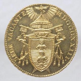 Sede Vacante (1823) Doppia Romana ...